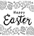 hand draw happy easter text vector image vector image