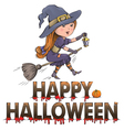 Happy Halloween composition vector image vector image