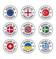 icon set made in england turkey denmark vector image