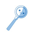 kawaii magnifier search loupe discovery find zoom vector image vector image