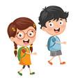 kids going to school vector image vector image