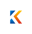 letter K color initial logo vector image vector image
