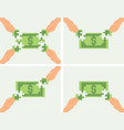 making money together or crowdfunding concept vector image