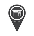 map pointer table office icon vector image
