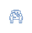 marketing plan discussion line icon concept vector image vector image