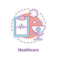 medicine concept icon vector image vector image
