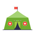 military medical tent providing first aid
