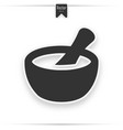 mortar and pestle glyph icon vector image vector image
