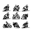 motorcycle icon sportbike vector image