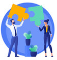 n business teamwork concept vector image