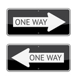 One Way Signs vector image vector image
