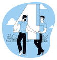 people are standing each holding a numbers vector image vector image