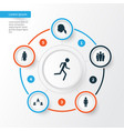 person icons set collection of running group vector image vector image
