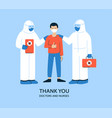 positive in flat style thank vector image vector image