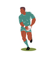 rugby player running with the ball vector image vector image