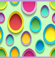 Seamless pattern with colorful Easter egg vector image