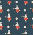 seamless pattern with symbols from alice vector image vector image