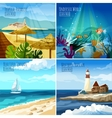 Seascape Set vector image