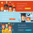 set flat design flyers headers banners vector image vector image