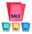 set of four sale stickers with geometric forms vector image vector image