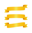 set of golden ribbon bannes vector image