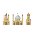 set of icons of religious buildings vector image