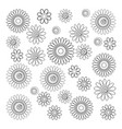 set of simple decorative flowers vector image vector image
