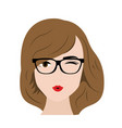 sexy woman with glasses cartoon vector image vector image