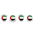 simple made in uae arabic translation 3d button vector image vector image