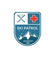 Ski Patrol Label Vintage Mountain winter sports vector image vector image