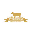 steak house logo design inspiration vector image vector image