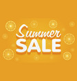 summer sale yellow and orange banner vector image vector image