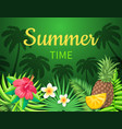 summer time season poster vector image vector image