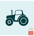 Tractor icon isolated vector image