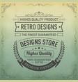 typography logo design in retro style vector image vector image