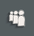 User flat icon vector image vector image