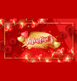 valentine day banner layout vector image