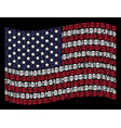 waving american flag stylization of beer glass vector image