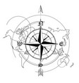 wind rose world map vector image