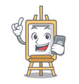 with phone easel character cartoon style vector image vector image