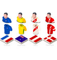 world cup group c jersey set vector image vector image