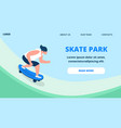 young guy in summer clothing riding skateboard vector image