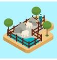 Zoo Worker vector image vector image