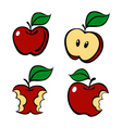 Painting apple set vector image