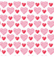 valentines day background hand drawn seamless vector image