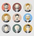 Modern Flat Design Men Icon Set vector image