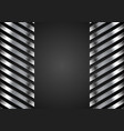 abstract tech metallic stripes background vector image vector image