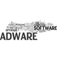 adware removal text word cloud concept vector image vector image