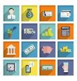 bank service icons flat set