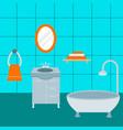 bathroom icons process water savings symbols vector image vector image